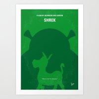 shrek Art Prints featuring No280 My SHREK minimal movie poster by Chungkong
