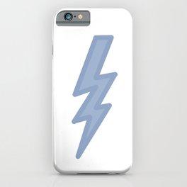 Dark Pastel Lightning (Blue) iPhone Case
