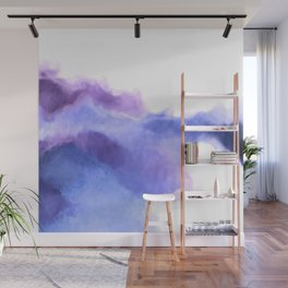 Purple Sky, White Light - abstract Wall Mural