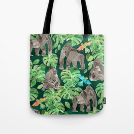Gorillas in the Emerald Forest Tote Bag