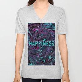 "ABSTRACT LIQUIDS HAPPINESS ""51"" Unisex V-Neck"