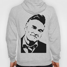 Painting of singer and lyricist from The Smiths, acrylic on canvas, monochrome pop stencil art. Hoody