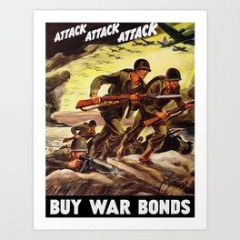 Buy War Bonds -- WW2 Propaganda Art Print