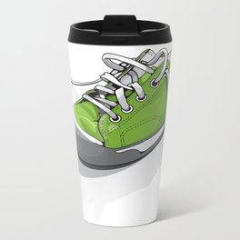 A Green Shoe Metal Travel Mug