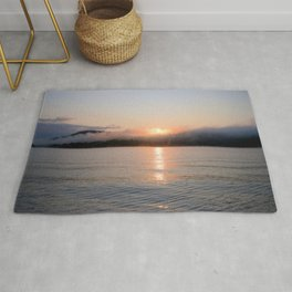 Reborn: Sunrise on Lake George Rug