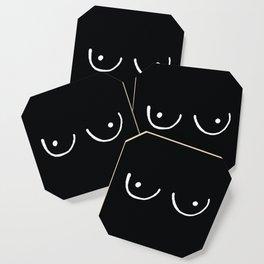 Black Boobs Coaster