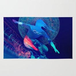 sky surfer Rug