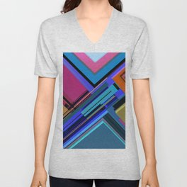 Abstract Composition 611 Unisex V-Neck