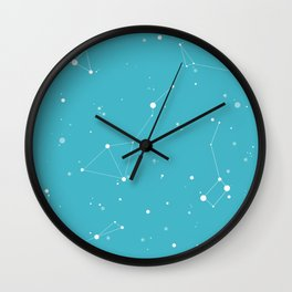 Teal Night Sky Wall Clock
