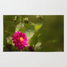 Dark Pink Dahlia in the Garden Rug