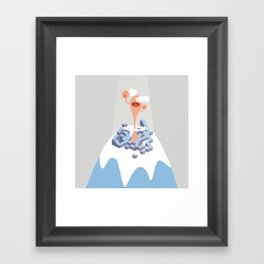 montain mouth Framed Art Print