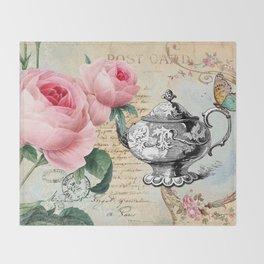 Vintage Flowers #17 Throw Blanket