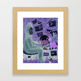 Sasquatch Hearts Nessie Framed Art Print