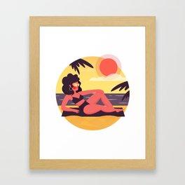 Sunny Summer Framed Art Print