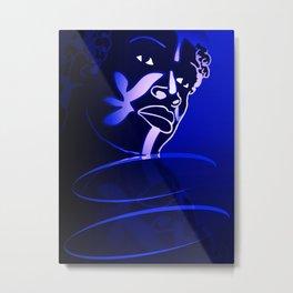 Ebony Blue Metal Print