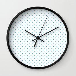 Domino sky blue dots pattern Wall Clock