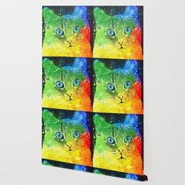 Abstract Bright Cat Wallpaper