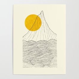 The tall cliff by the sea Poster