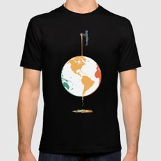 Fill your world with colors MEDIUM Mens Fitted Tee Black