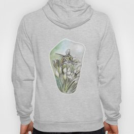 Bee and Flowers by annmariescreations Hoody