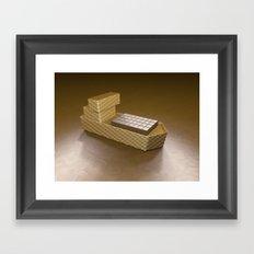 Chocolate Ship - 3D Art Framed Art Print