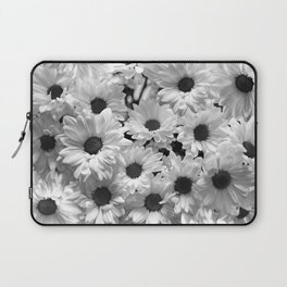 Daisy Chaos in Black and White Laptop Sleeve