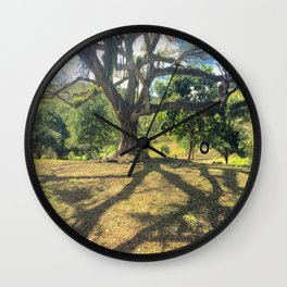 Tire Swing in a Tropical Place Wall Clock
