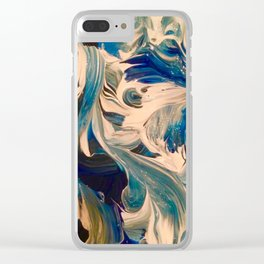 Ocean Swirl Clear iPhone Case