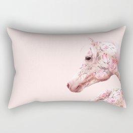FLORAL HORSE Rectangular Pillow