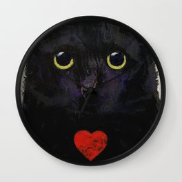 Love Cat Wall Clock