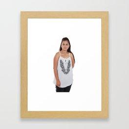 White Top for Ladies Framed Art Print