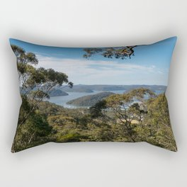View of Hawkesbury River from Muogamarra Reserve, Sydney Rectangular Pillow