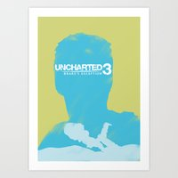 uncharted Art Prints featuring Uncharted 3 by Jamie Owers
