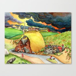 Dragon Looking for Flatmate Canvas Print
