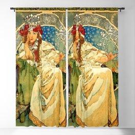 "Alphonse Mucha  ""Princess Hyacinth"" Blackout Curtain"