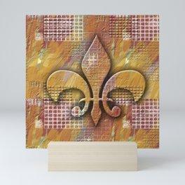 Fleur de lis tile Mini Art Print