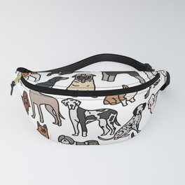 Dog breeds, original artwork Fanny Pack