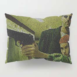 Text Portrait of Leon and Mathilda with Full Script of the movie LEON Pillow Sham