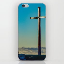 The Cross on the Hill iPhone Skin