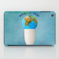 world cup iPad Cases featuring World cup by Anne Seltmann