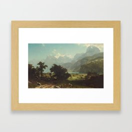 Lake Lucerne by Albert Bierstadt Framed Art Print