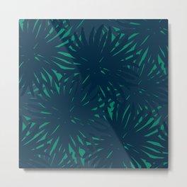 Deep Summer - Blue Urchins Metal Print