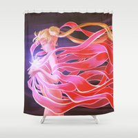 sailor moon Shower Curtains featuring Sailor Moon by Cami Sanders