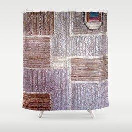 3D Leather carpet texture Shower Curtain