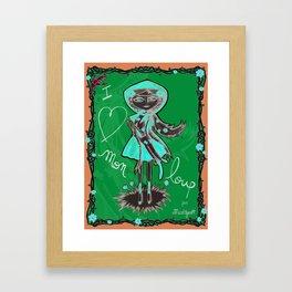 """""""I love mon loup"""" Framed Art Print"""
