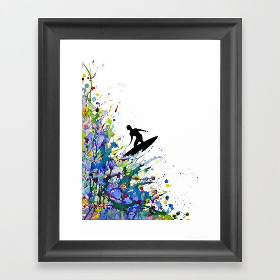 A Pollock's Point Break Framed Art Print