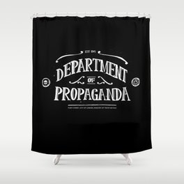 Department of Propaganda Shower Curtain