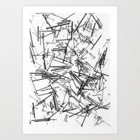 Falling Nails Art Print