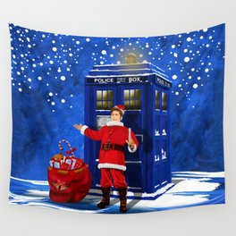 10th Doctor who Santa claus Wall Tapestry