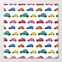 italian Canvas Prints featuring Italian cars  by Katerina Izotova
